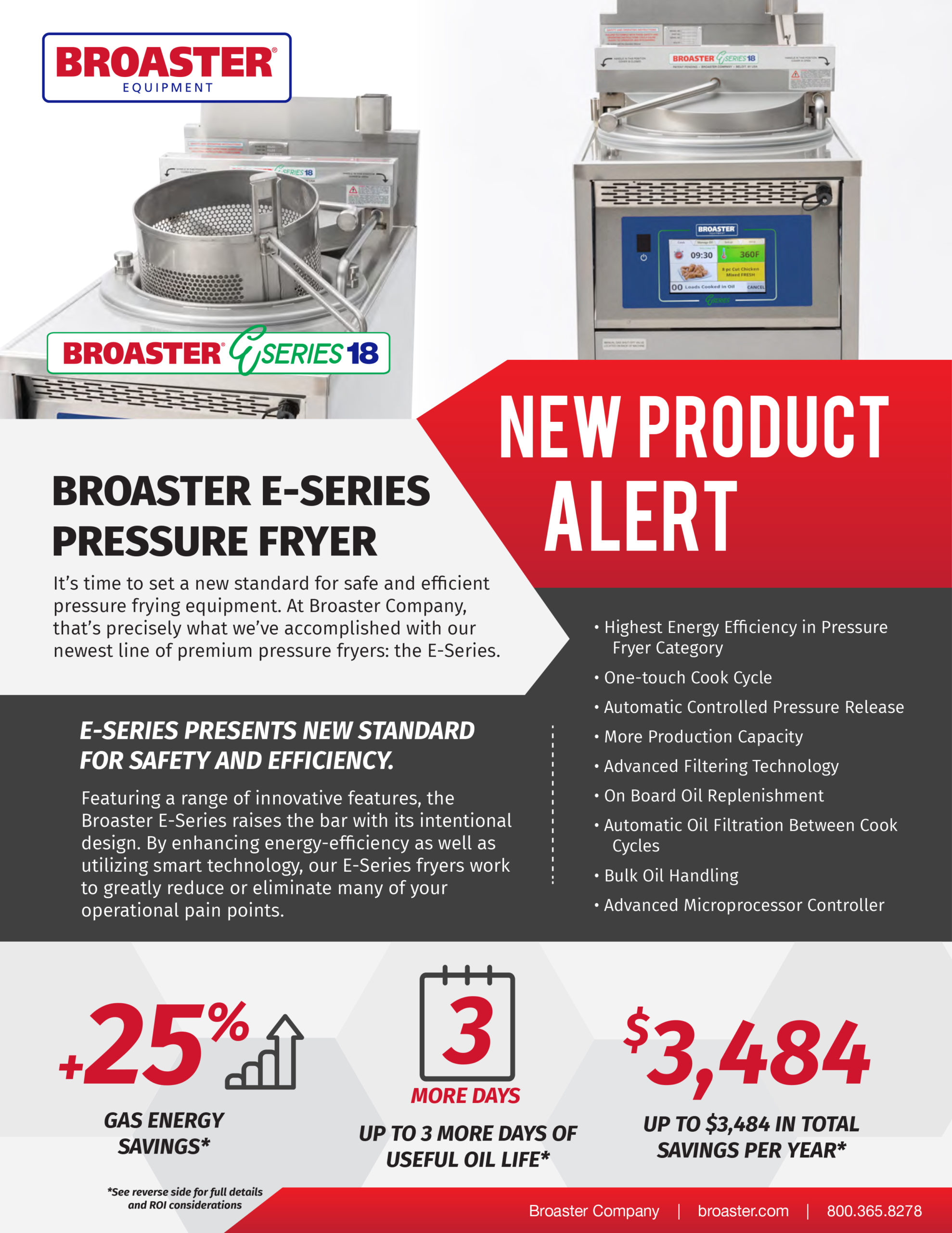 ROI for E-series 18 from Broaster Company