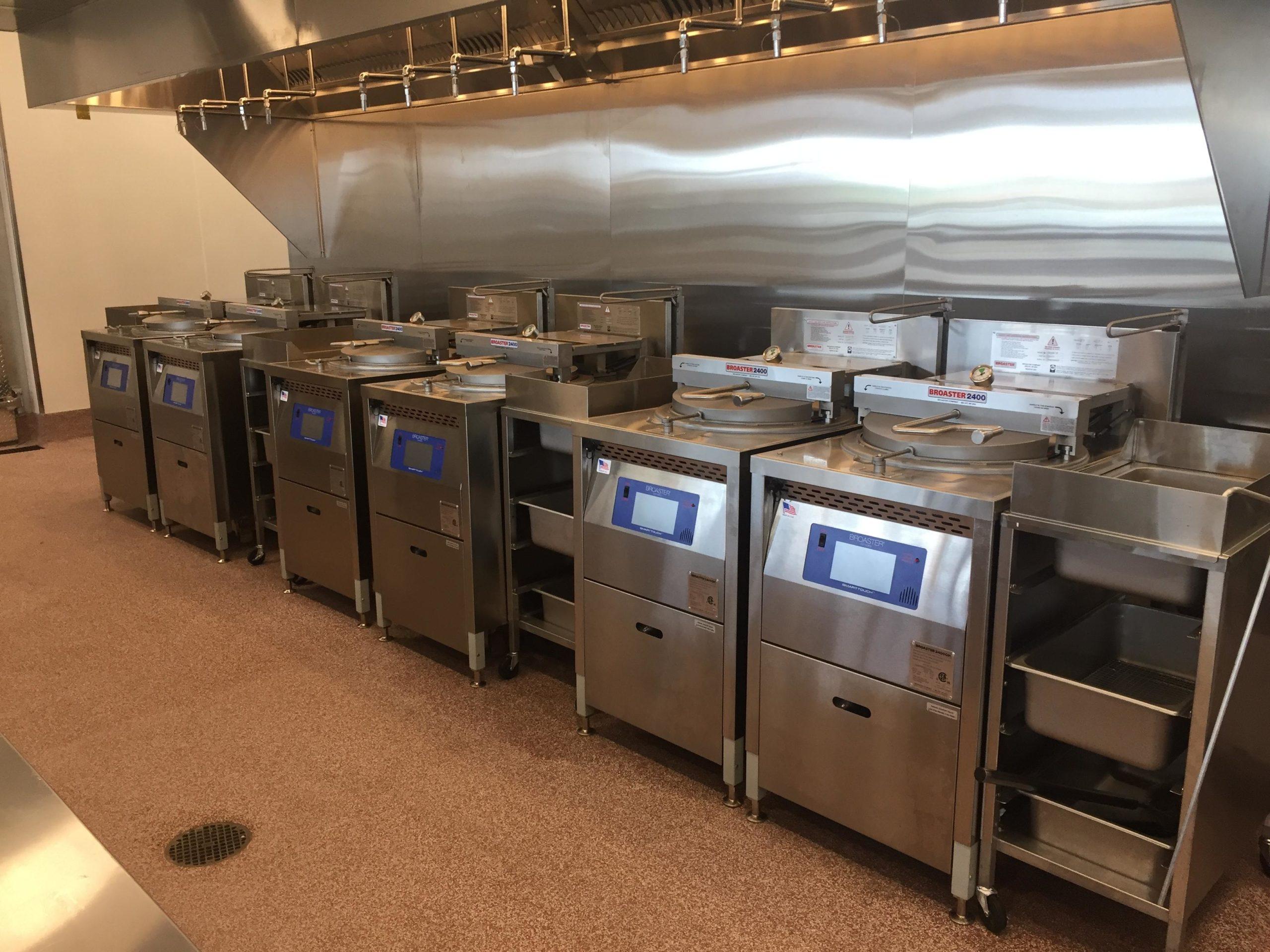 Broaster Pressure fryers at local restaurant