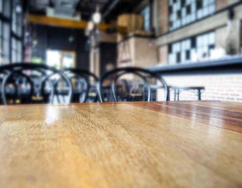an empty restaurant during coivd