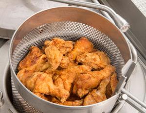 Broasted Chicken made in a Broaster pressure frier
